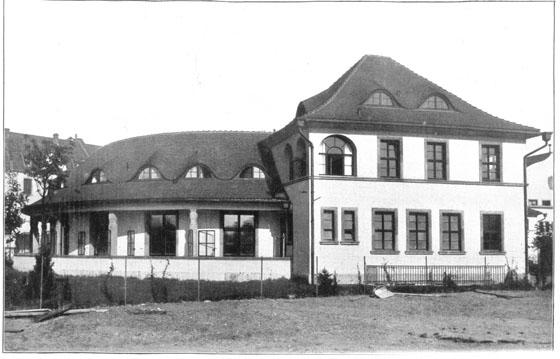Fotografie: Krankenhaus der Israelitischen Gemeinde / Infektionsgebäude, 1914.