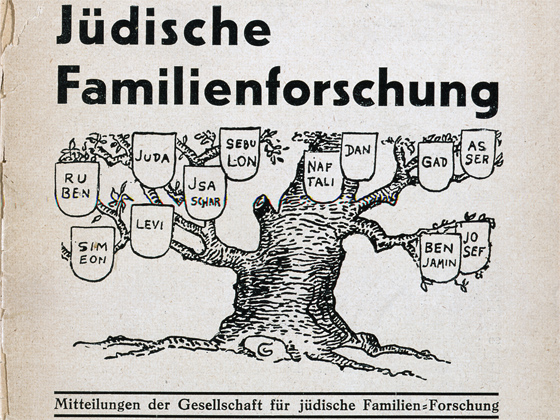 """Title page: Title page of the periodical """"Jüdische Familienforschung,"""" (Jewish family research), special edition, Berlin 1936."""