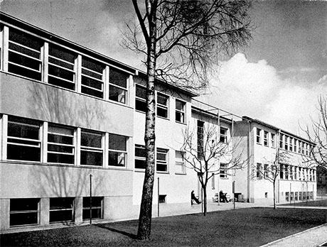 Fotografie: Siechenhaus Rödelheim, Hofansicht.
