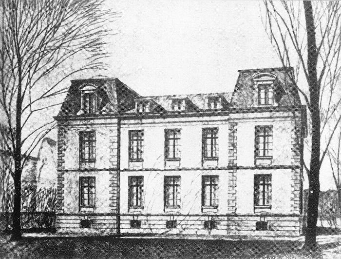 Fotografie: Rothschild'sches Hospital, Röderbergweg 97, Frontansicht.