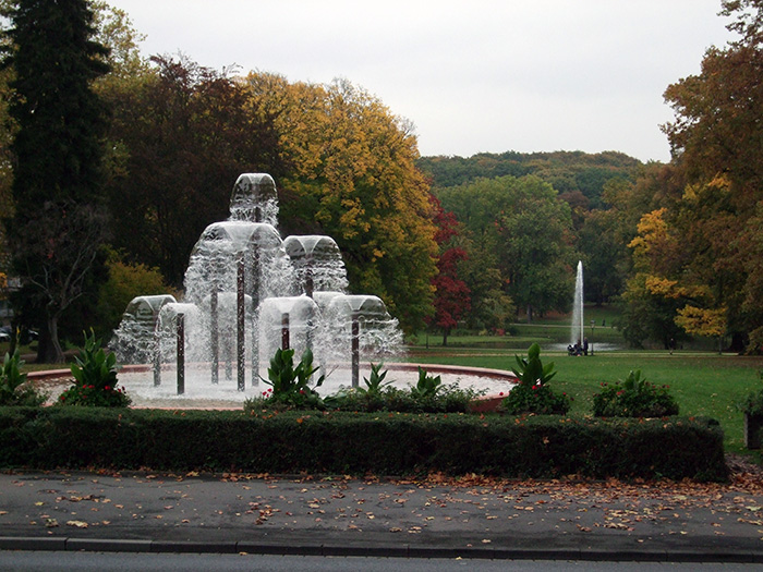 Fotografie: Bad Homburg, Teilansicht des Kurparks, 16.10.2013