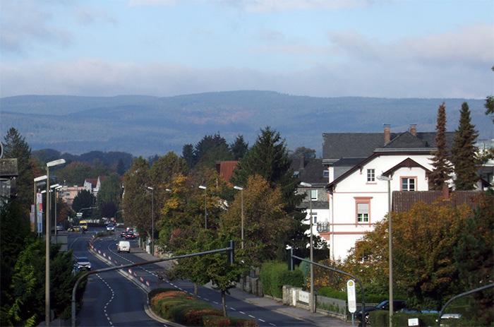 Fotografie: Kurstadt Bad Homburg: Blick auf den Taunus, 16.10.2013